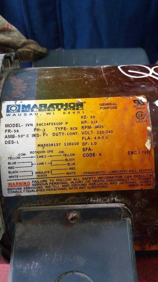 Marathon Electric 56C14F5510F motor