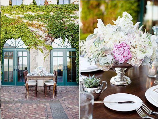 Fancy Backyard Wedding :  , Elegant Outdoor, Dinner Dinnerware, Outdoor Wedding Decorations