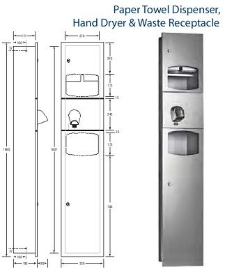 ML73N1 Recess 3 in 1 Stainless Steel Wall Unit  The Cheapest In Australia.