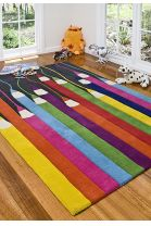 Kids Pencils Down rug - bought for girls playroom!