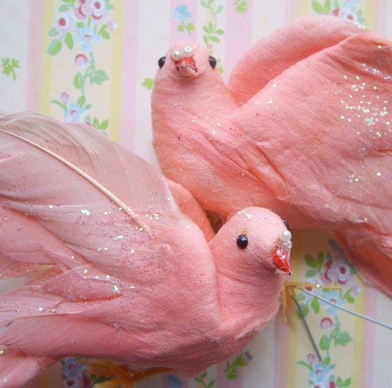 glitter: Christmas Pinks, Sweet Pink, Pink Birds, Cotton Pink, Pink Glitter, Beautiful Pink, Glitter Birds, Chic Pink