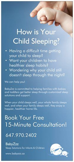 How is your child sleeping?  Book your free 15-minutes consultation!