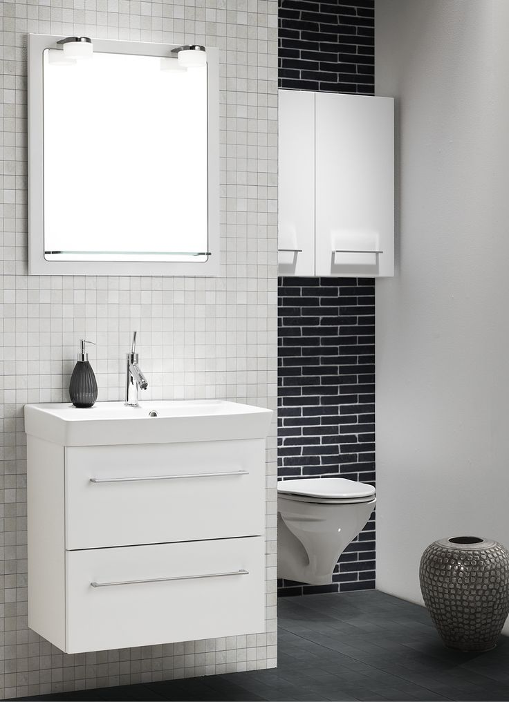 Why not utilise the area above the toilet, for example, for an extra wall cabinet or two?