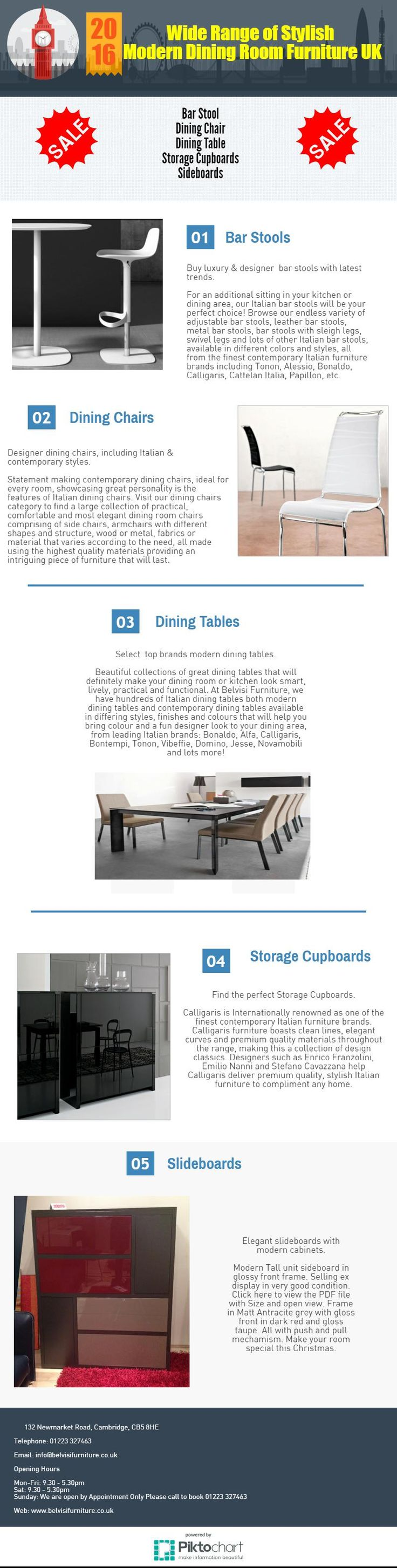 This #infographic Shows The Exclusive Range Of Modern #dining #furniture .A  Mix