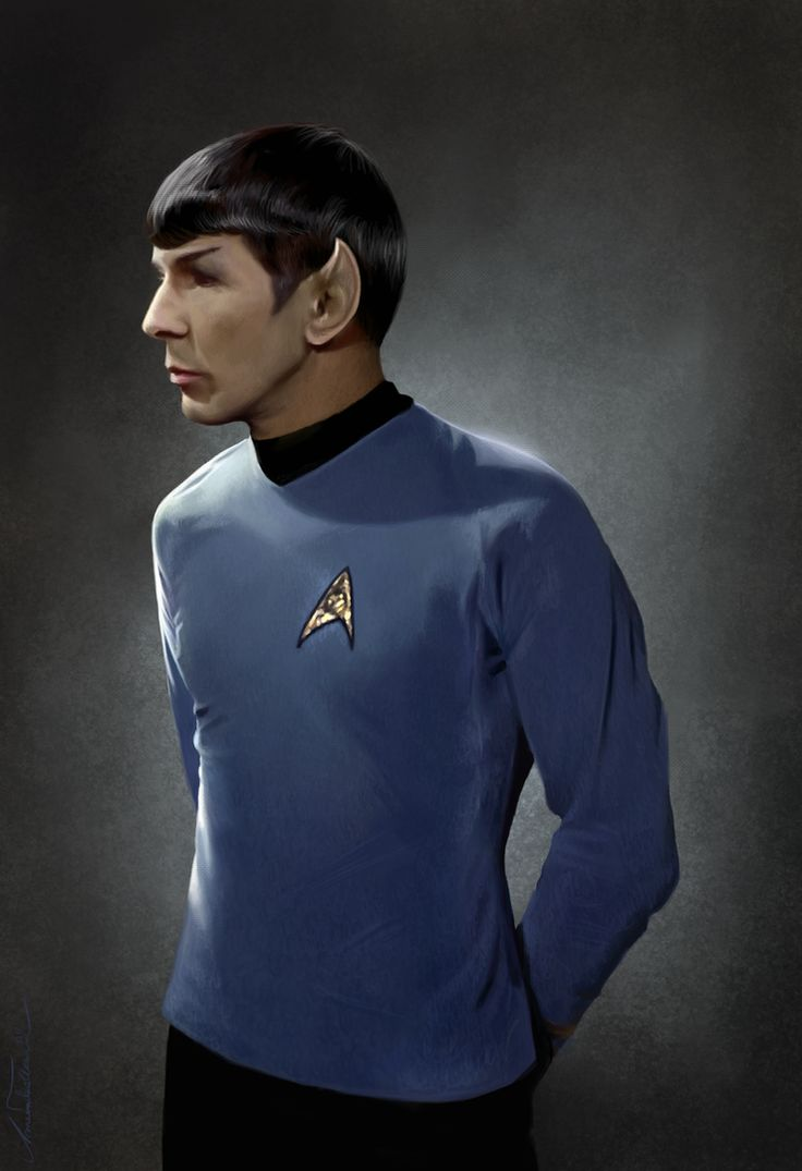 Spock by AmandaTolleson - This is a painting! I want a print of this and the matching Uhura!