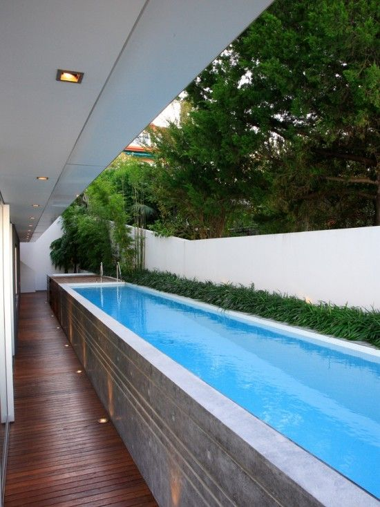 Simple Above Ground Lap Pool Design.