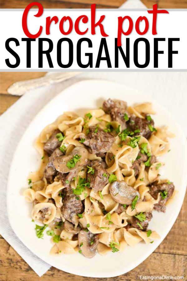 Crock Pot Beef Stroganoff Recipe Beef Stroganoff Beef Stroganoff Crockpot Stroganoff Recipe