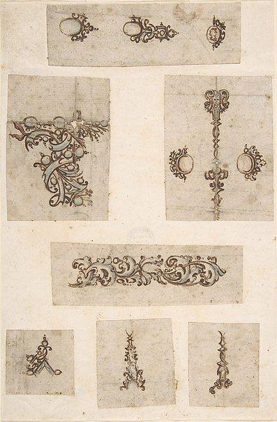 Sheet of Jewelry Designs Anonymous Italian 17 th century                                                                                                                                                                                 Mehr
