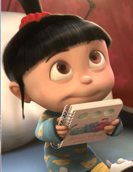 Despicable Me characters How could you not read to that sweet face?