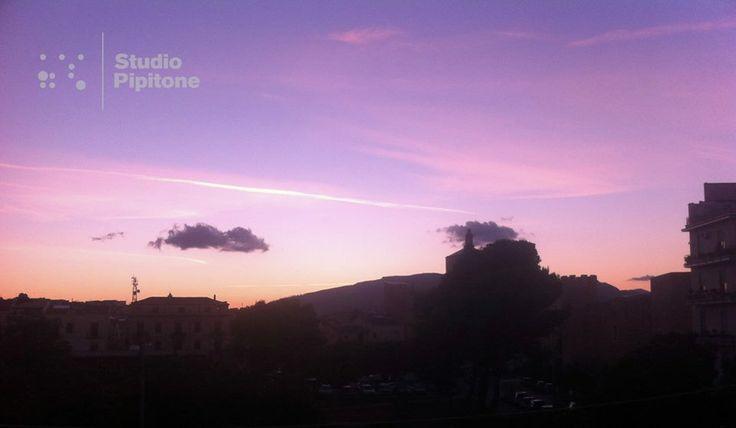 #StudioPipitone_windowviews #StudioPipitone  #Viste dalla #finestra dello #studio. #Views from the #studio #window.@Gail Mounier Pipitone #sunset.