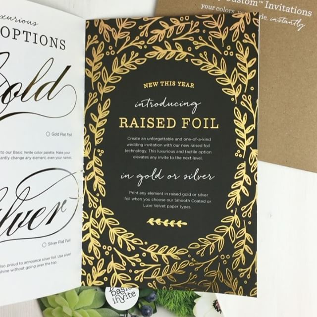 Raised Gold Foil Invitations By Basic Invite