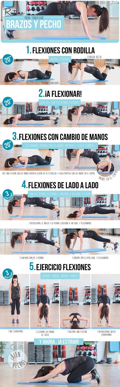 ¡Tonifica tus brazos y pechos en una sola rutina! #WorkoutRoutine