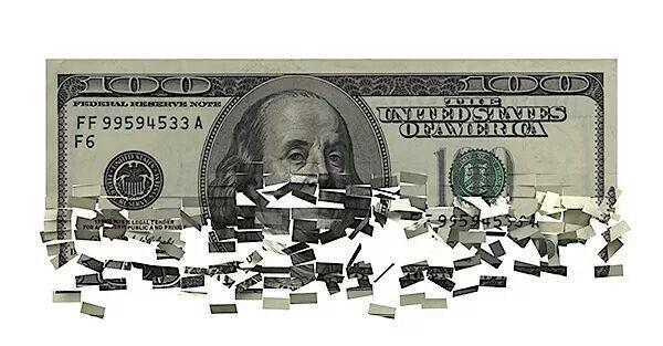 De pixilated Dollar