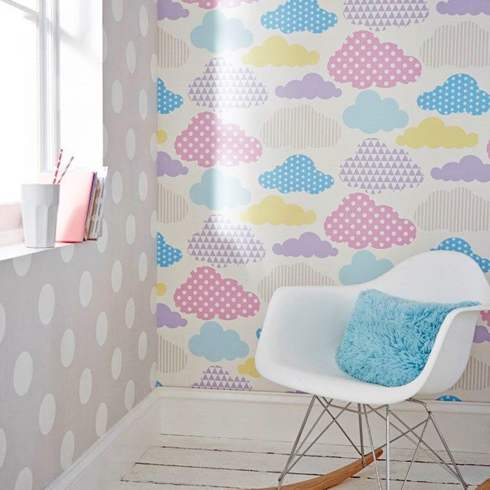 Marshmallow Clouds Wallpaper by Graham and Brown