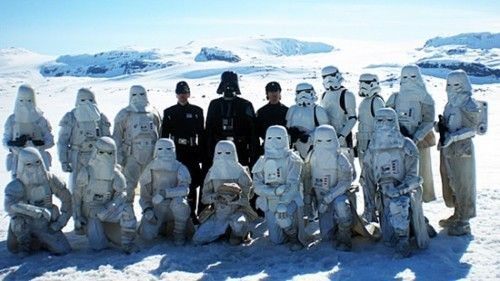Behind the scenes - Imperial Hoth cast