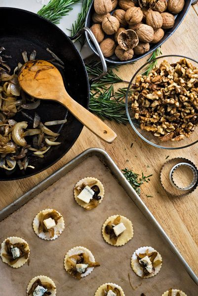 For the holidays, cookie platters abound, but for those without a sweet tooth, these little savory tarts are just as appealing. (Photo: Karsten Moran for The New York Times)