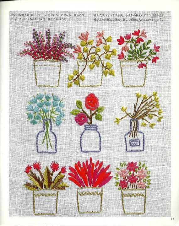 Japanese Flowers Embroidery Collections e book by AdoredPixel