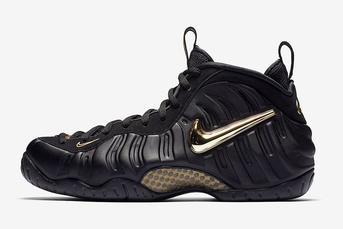 578dfbfa4cd Nike's Air Foamposite Pro Returns in Black and Gold | Me ...