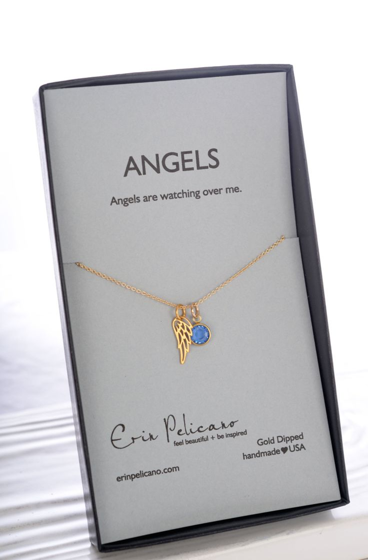 Gold Angel Wing. Remembrance Jewelry. Grief Necklace. Inspirational Jewelry. Personalized. Angel Wing Necklace. Miscarriage Remembrance. by erinpelicano on Etsy