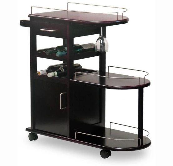 Winsome Entertainer Kitchen Serving Cart - Espresso