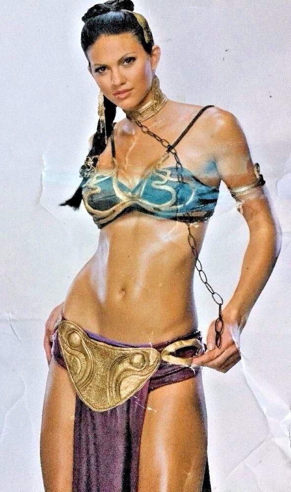 $45  Princess Leia Slave Sz S (adult 2-6) Jabba Harem Delux Costume cosplay Halloween #StarWarscom #CompleteOutfit #Halloween