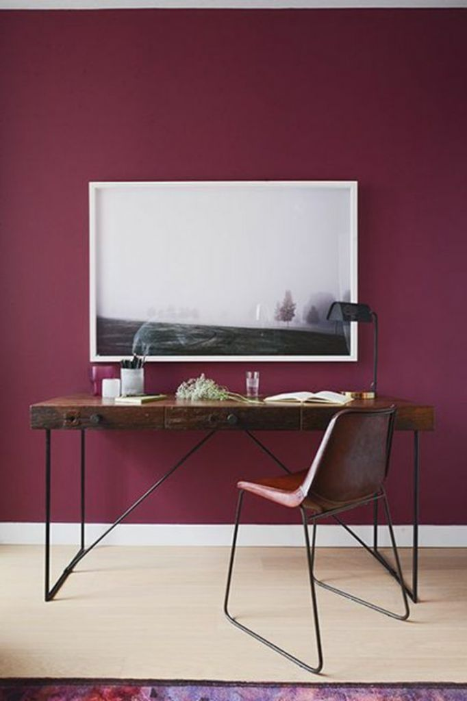 les 25 meilleures id es de la cat gorie murs bordeaux sur pinterest chambre marron chambre. Black Bedroom Furniture Sets. Home Design Ideas
