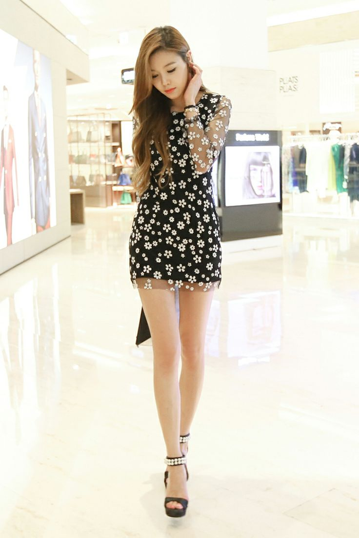 Asian girls in mini skirt
