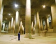 Underground water collection facility in Tokyo: protects from floodwaters..wow