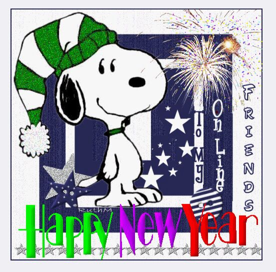 Happy New Year to my online friends! & Pinterest friends, of course!  / Snoopy