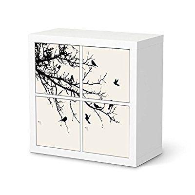 Möbeltattoo Für IKEA Kallax Regal 4 Türelemente | Dekoration Klebefolie  Möbel Aufkleber Folie | Zimmer