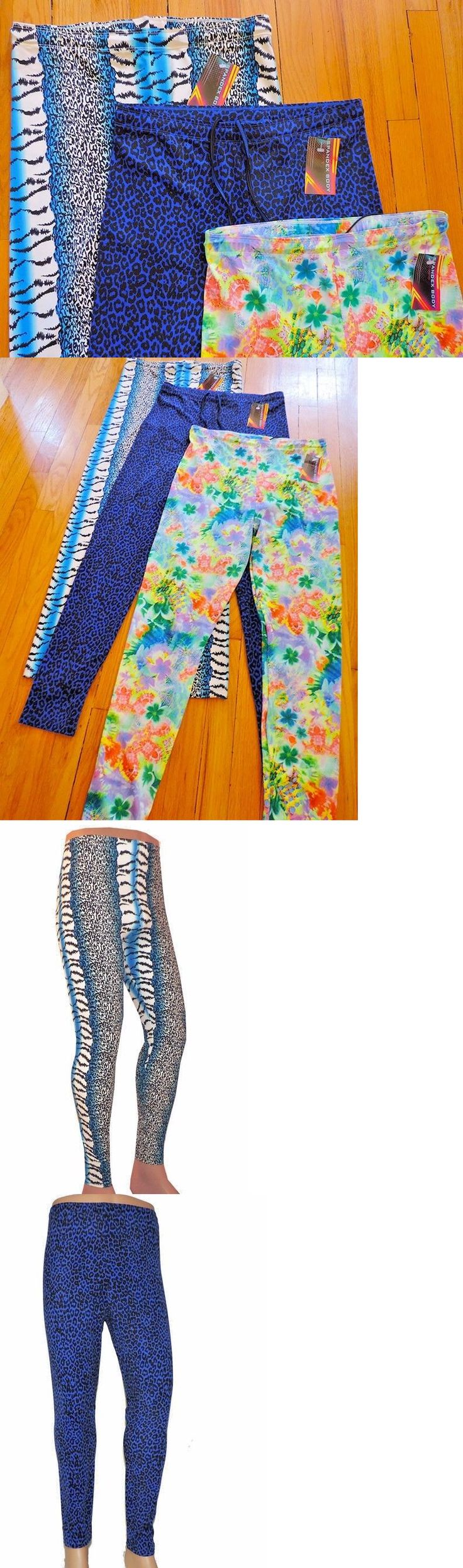 Clothing 79796: Lot 3 Xl Wrestling Tights Animal Floral Neon Leopard Festival Edm Cos Play -> BUY IT NOW ONLY: $60 on eBay!