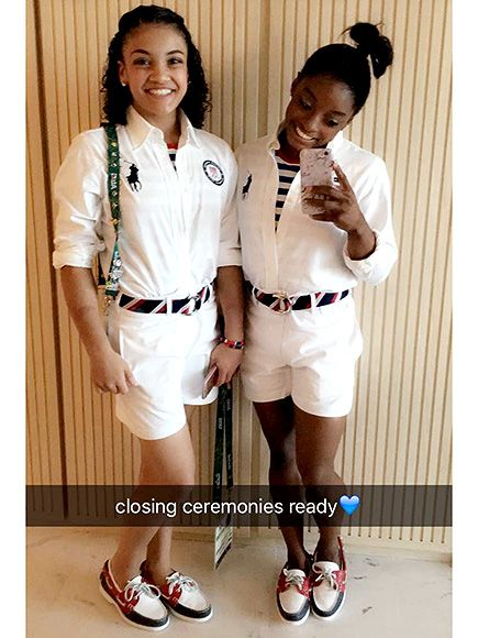 Laurie Hernandez and Simone Biles for their final Olympic moment The Closing Ceremony of the Games of the XXXI Olympiad in Rio de Janeiro, Brazil. Well done Ladies..well done and see you in Tokyo, Japan in 2020.