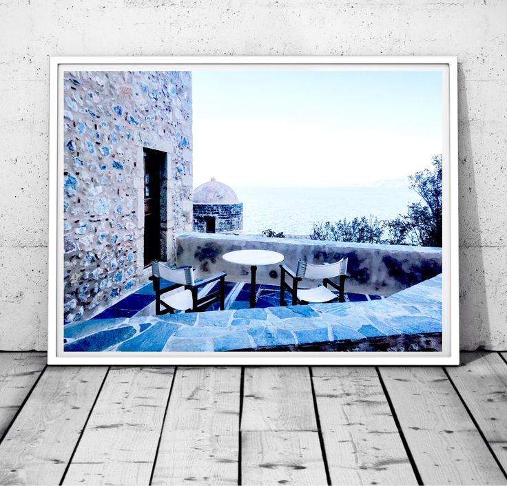 Greece Prints, Ocean wall art, Blue and White Photography, Nautical Wall Decor,mediterranean wall art,Monemvasia print, Digital Download by S4StarSbySiSSy on Etsy https://www.etsy.com/ca/listing/464601337/greece-prints-ocean-wall-art-blue-and