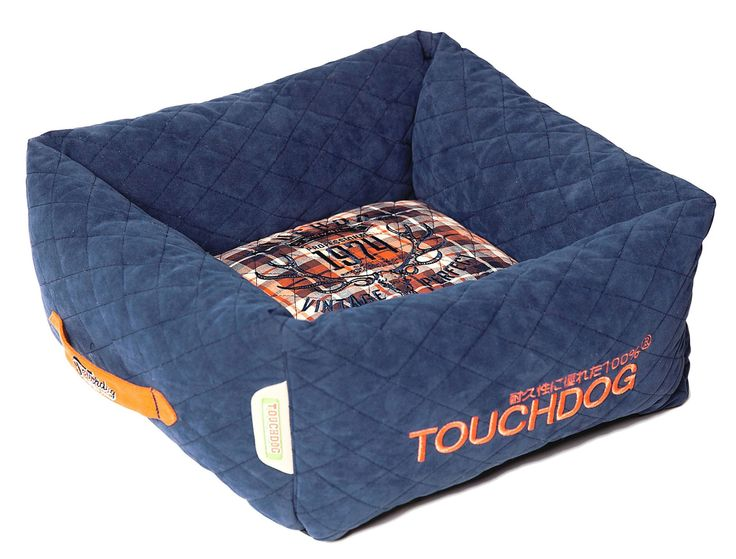 posh rectangular diamond stitched fleece plaid dog bed