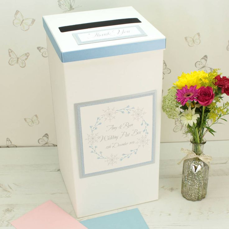 Are you interested in our wedding post box for sale? With our winter wedding you need look no further.