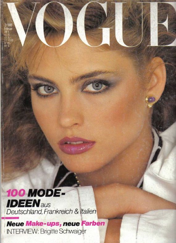 A typical 1980s makeup look