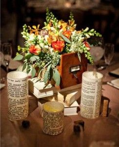 Vintage Centerpieces | Vintage School, Library, Old Books Theme O-old-books-centerpieces-3 – DIY Weddings and Events
