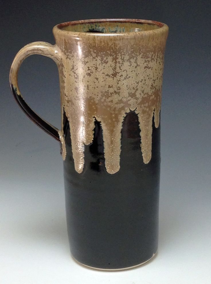 20 oz tall boy mug. Fits in a car cup holder #pottery #mug