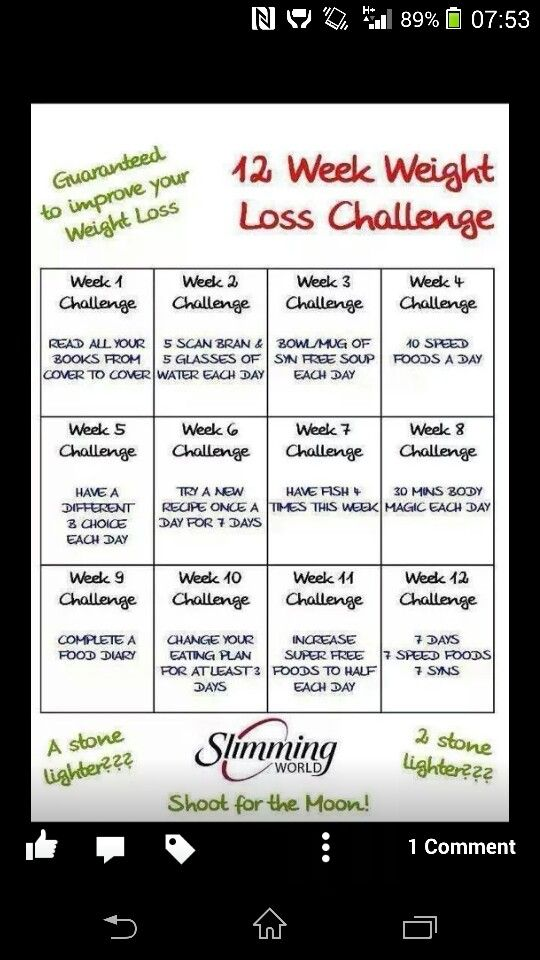 Slimmimg world 12 week challenge