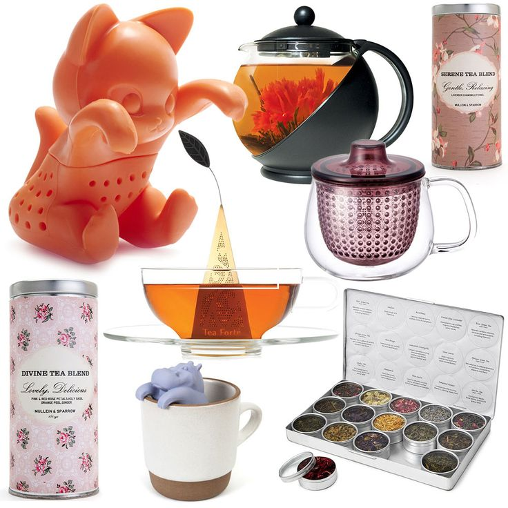 Brew up a special gift with these tea infusers, blends, kettles, and other tea products