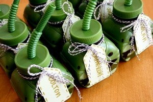 Party favors for Army b-day, cute :)