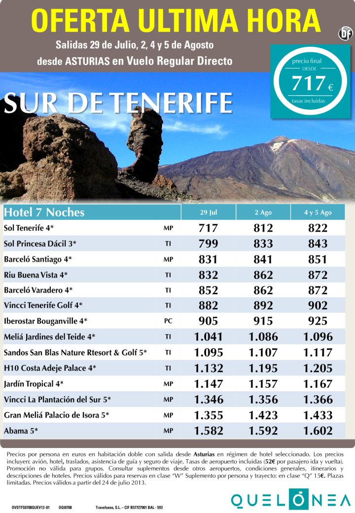 Sur de Tenerife desde 822€ Tax incl. Oferta Ultima Hora-7 Noches desde OVD - http://zocotours.com/sur-de-tenerife-desde-822e-tax-incl-oferta-ultima-hora-7-noches-desde-ovd/