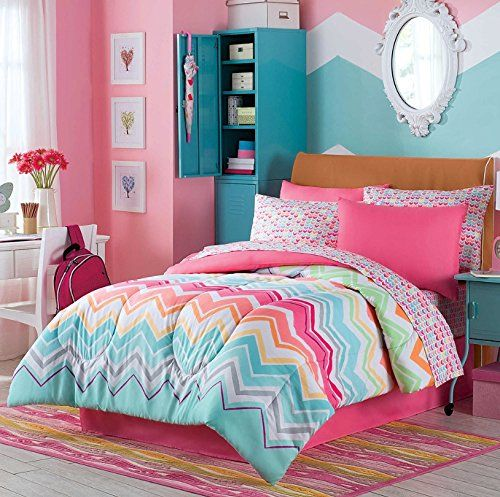Happy Chevron Full Comforter, Shams, Sheets & Bedskirt (8 Piece Complete Bed in a Bag) Chevron Bedding http://www.amazon.com/dp/B00W4C8H5W/ref=cm_sw_r_pi_dp_30cqvb1T9SN44