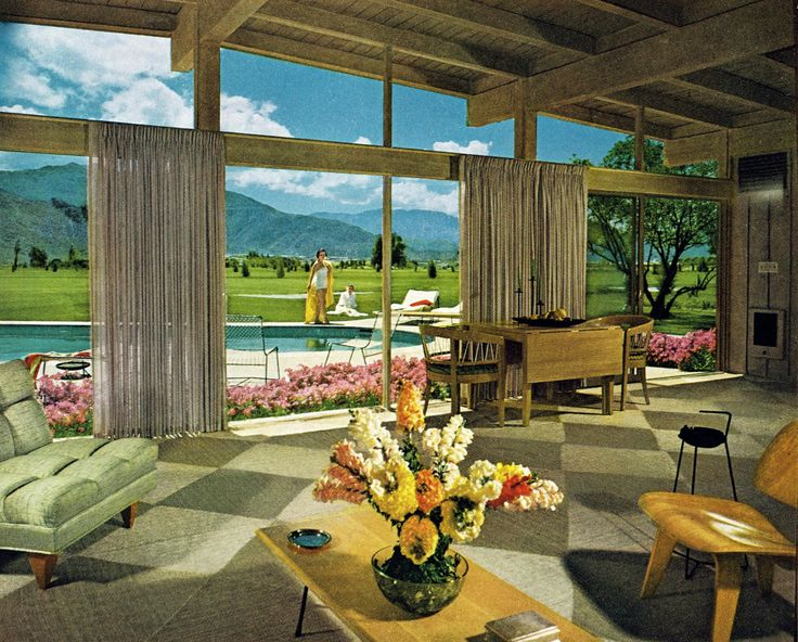 Mid-century modern house in Palm Springs, 1955