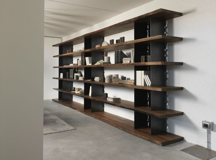 Awesome Open Wooden Bookcase BRIE By Riva 1920 Design Marc Sadler