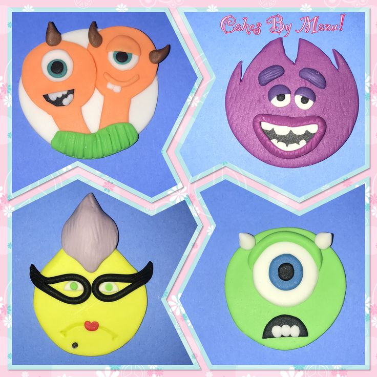 Monsters inc cupcakes! Monsters university cupcakes