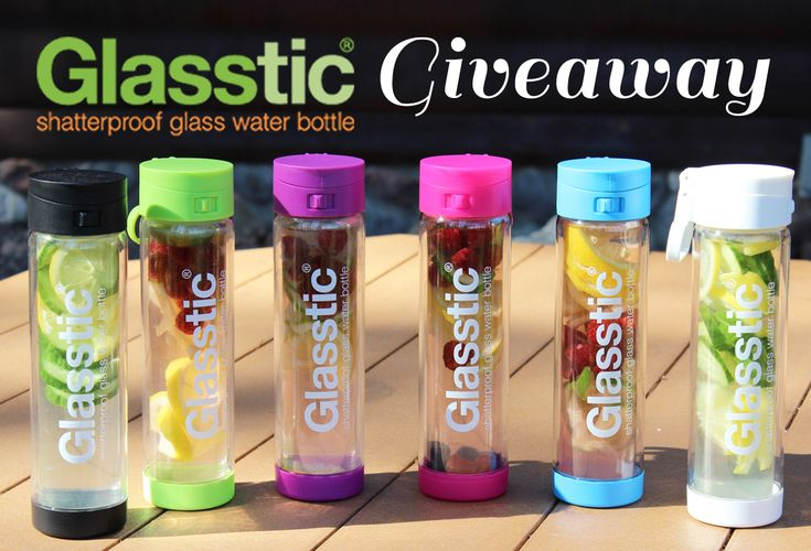 Find out how to enter to win a Glasstic Shatter Proof Water Bottle - so many easy ways to enter, including repinning this image! Note: Entries must  be made via the RaffleCopter link included in the post below. Good Luck!