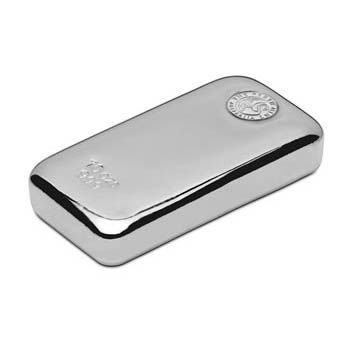 """The Perth Mint 10ozt """"Cast"""" .999 Fine Silver Bar (Ingot). Although amongst some of the most common 10oz Silver Bullion bars available in Australia, these bars command rather hefty premiums abroad."""
