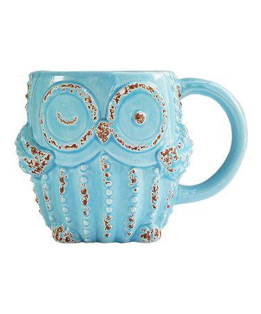 Another great find on #zulily! Blue Owl Mug #zulilyfinds