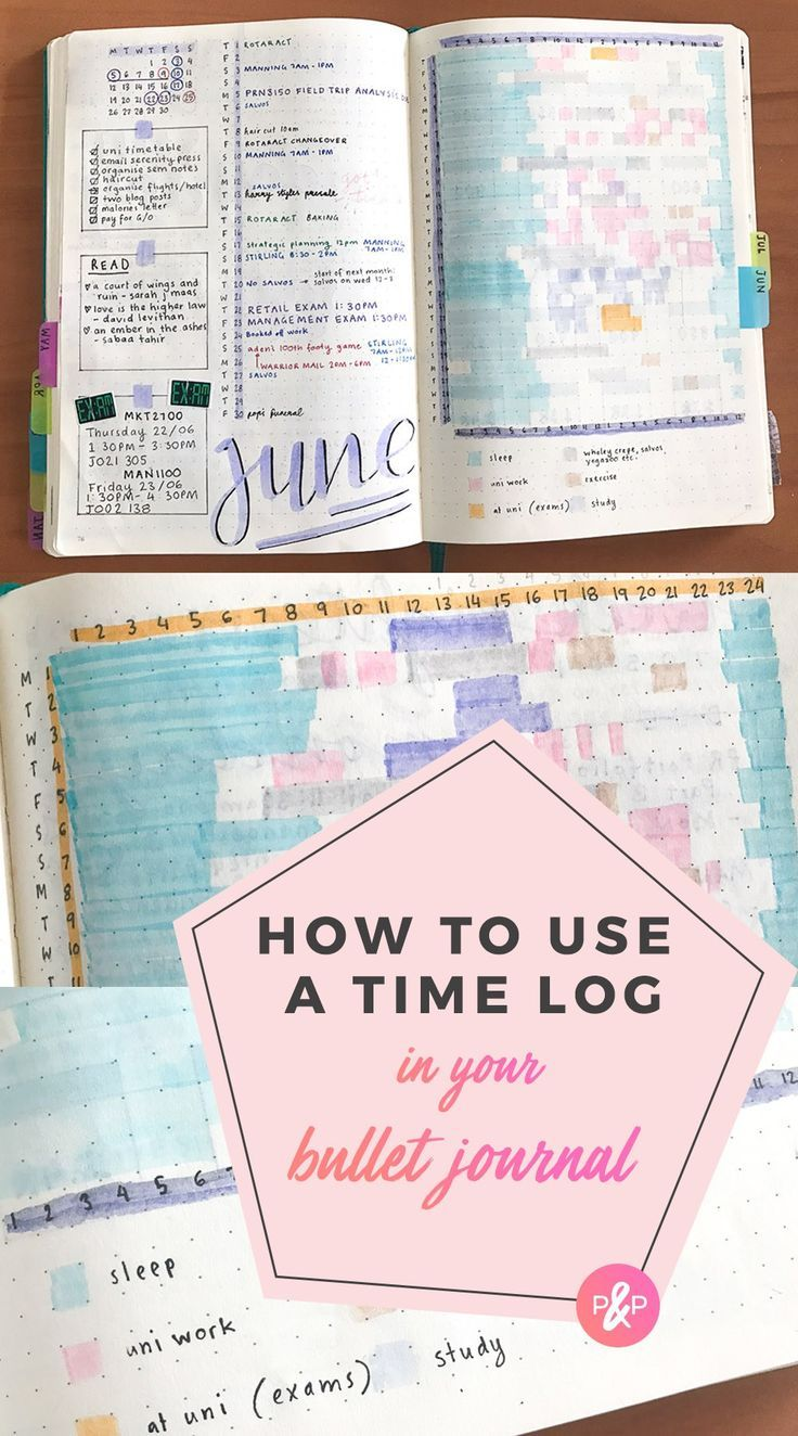 Tracking Hours: Using a Time Log for Bullet Journal